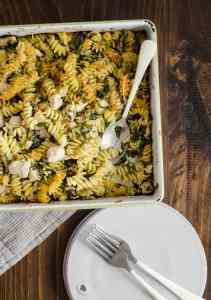 Chicken Pasta Bake with Spinach & Parmesan