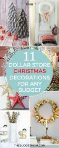 If you are looking to decorate for Christmas on a small budget, then you have come to the right place. We are sharing 11 of our favorite DIY Dollar Store Christmas decorations that anyone can create!