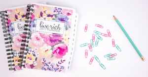 The 2017 Live Rich Planner is so much more than just your daily planner. It is designed to help you organize your life and give you a plan of attack for your financial goals. It provides you with the ability to stick to a realistic working budget, track your savings, and pay down your debt. You will be able to focus on your daily, weekly, and monthly goals without feeling overwhelmed. From tracking important dates to budgeting your paychecks, it is the stress reliever we've all been waiting for.