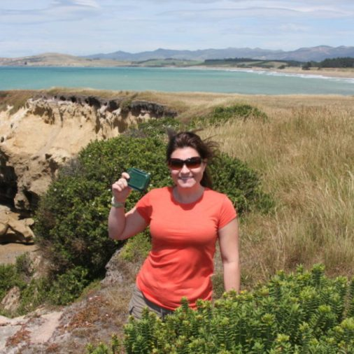 Geocaching in Oamaru on the South Island of New Zealand