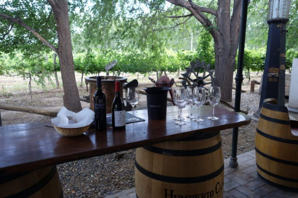 The outdoor tasting area at Huberto Canale
