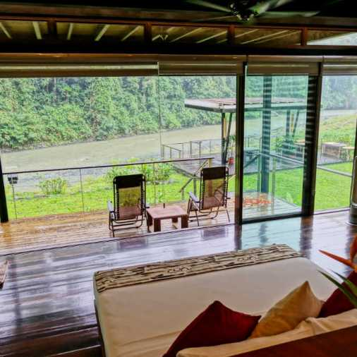 Bedroom and Patio Borneo Rainforest Lodge