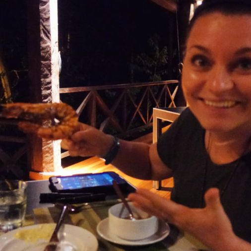 Exploring Borneo Island Shrimp Dinner