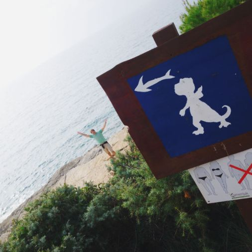 Istria Croatia Kamenjak Grako Park Dinosaur Sign