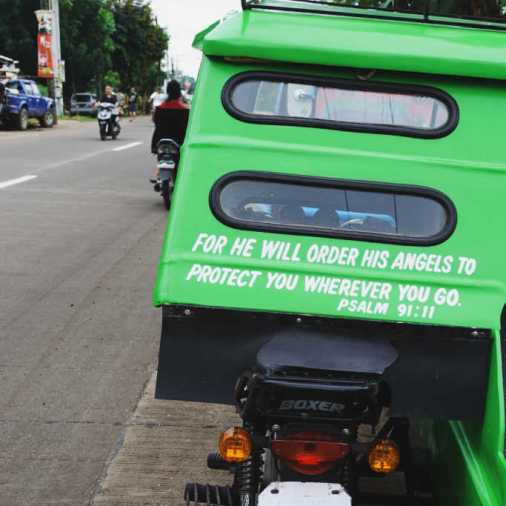 Pangloa and Bohol Island Trike For he will order his angels to protect you wherever you go