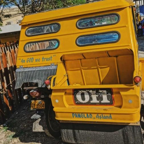 Pangloa and Bohol Island Trike In God We Trust