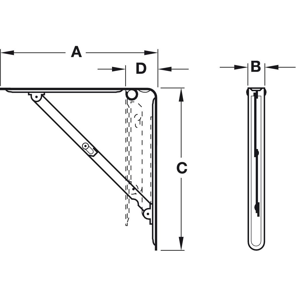 Hafele 287 40 742 Bracket Folding With Locking Devices