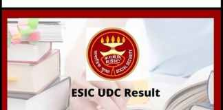ESIC Results 2020