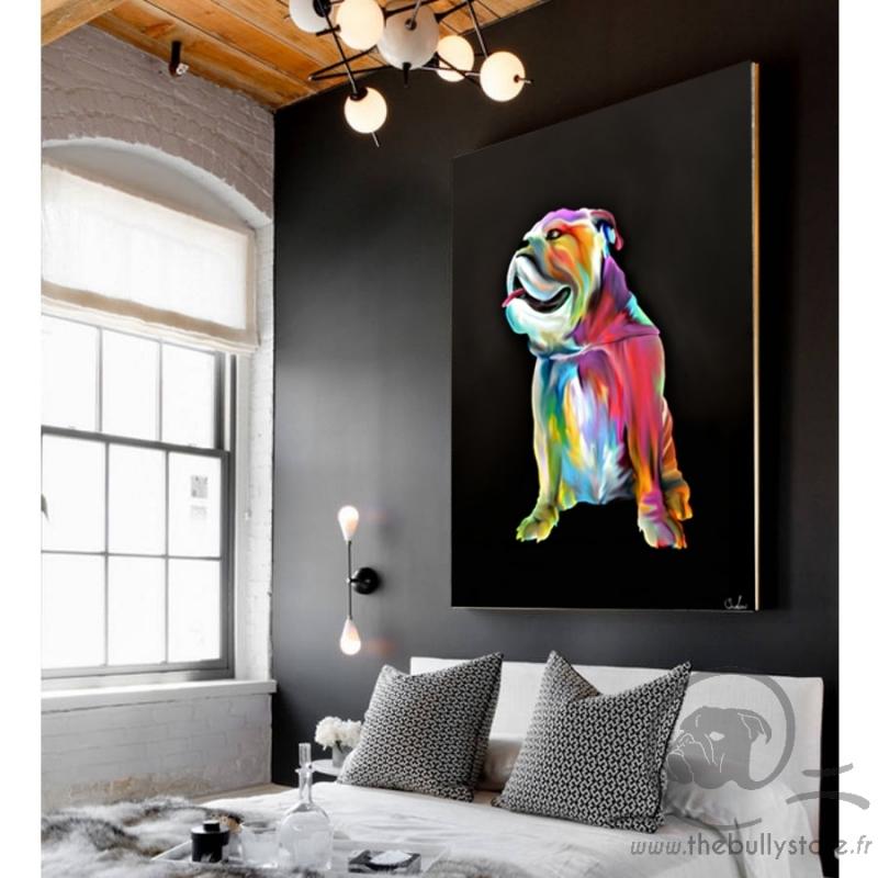 Toile Bulldog Anglais Color