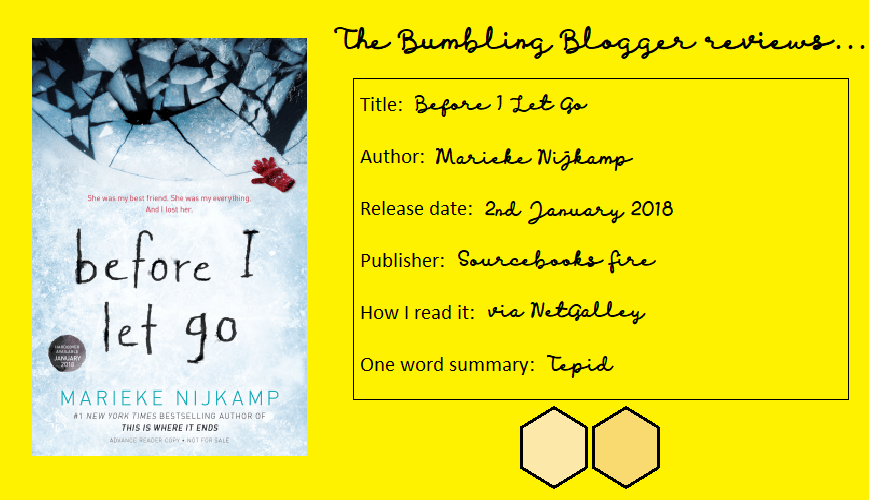 Review: Before I Let Go by Marieke Nijkamp
