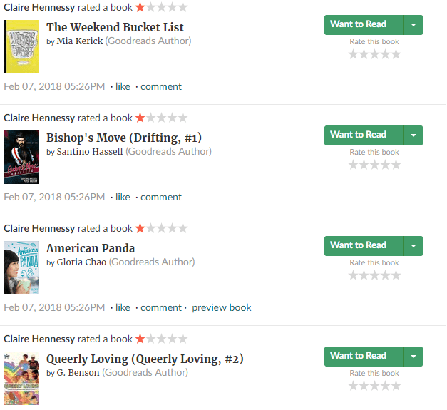 Claire Hennessy Goodreads ratings