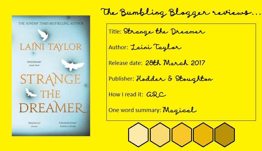 Strange the Dreamer by Laini Taylor review header