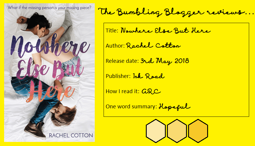 Nowhere Else But Here blog tour review header