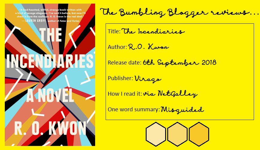 The Incendiaries by R.O. Kwon review header
