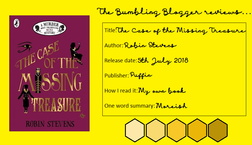 Blogtober Day 7: Review: The Case of the Missing Treasure by Robin Stevens