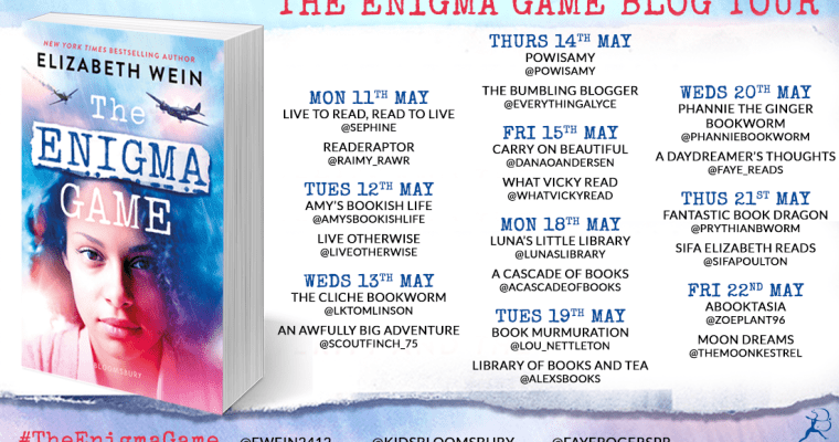 Blog tour: The Enigma Game by Elizabeth Wein