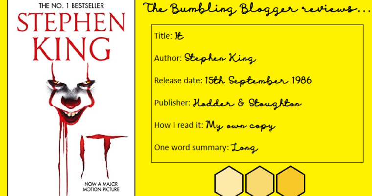 BLOGTOBER Day 25: Review: It by Stephen King