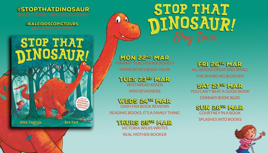 BLOG TOUR: Stop That Dinosaur! by Alex English and Ben Cort