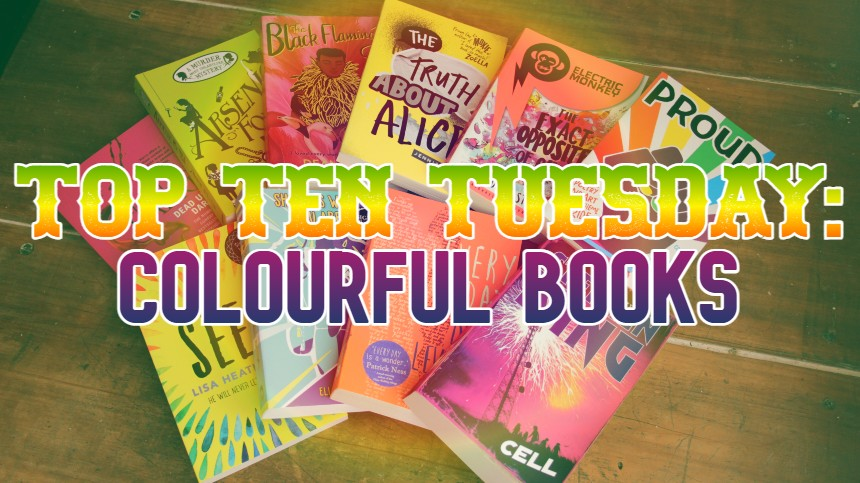 TOP TEN TUESDAY: Colourful Books