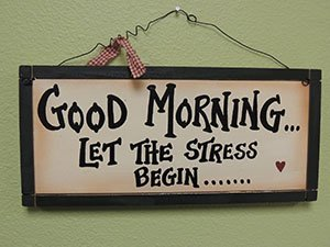 good morning stress picture frame