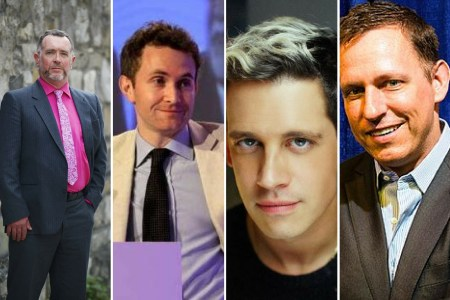 Paddy Manning, Douglas Murray, Milo Yiannopoulos, Peter Thiel.