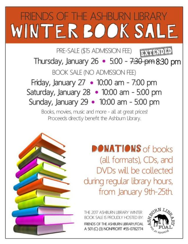 ashburn library book sale