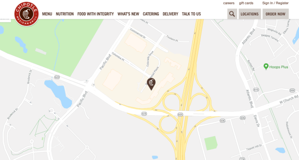 on chipotle restaurant locations map
