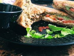 mint pesto sandwich