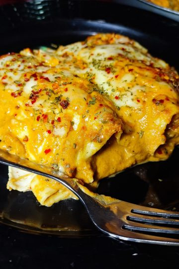 butter chicken lasagna rolls