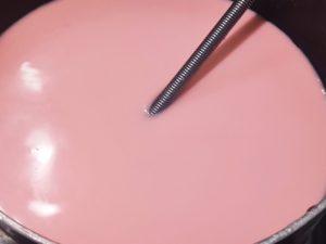 rose custard lava pudding