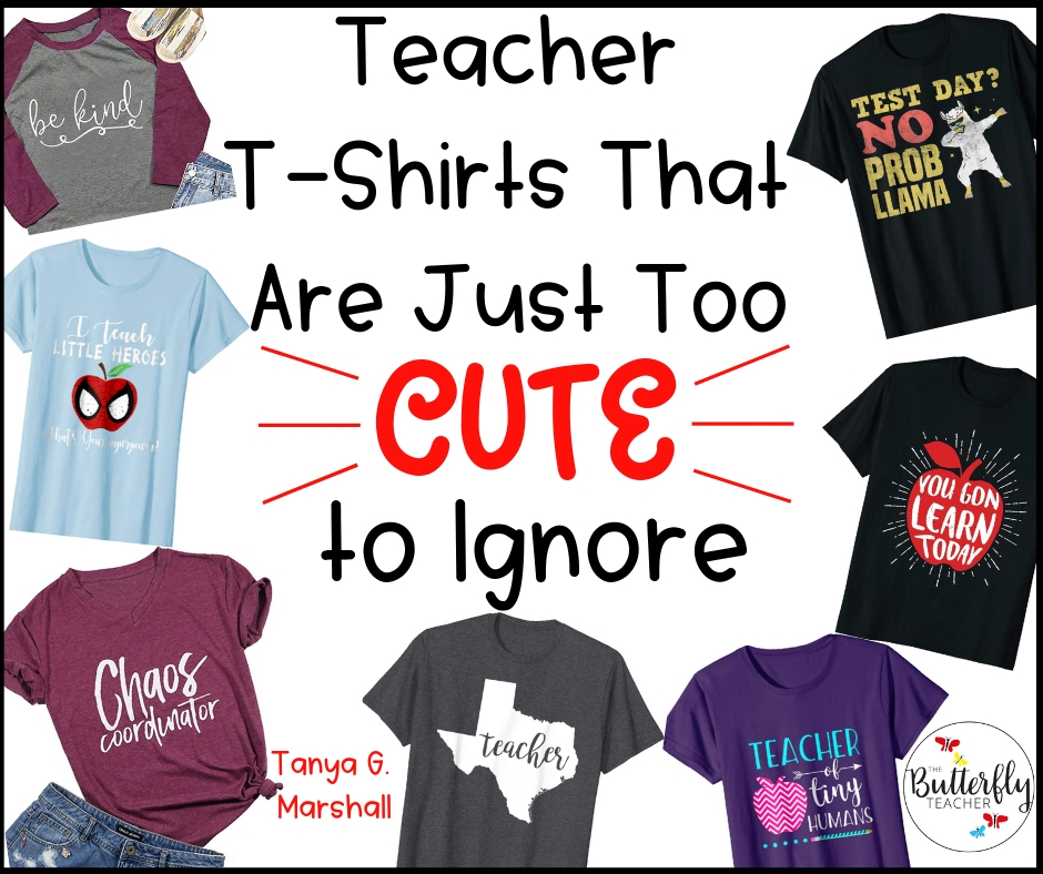 213f48e00749 Teacher T-Shirts That Are Just Too Cute To Ignore | The Butterfly Teacher