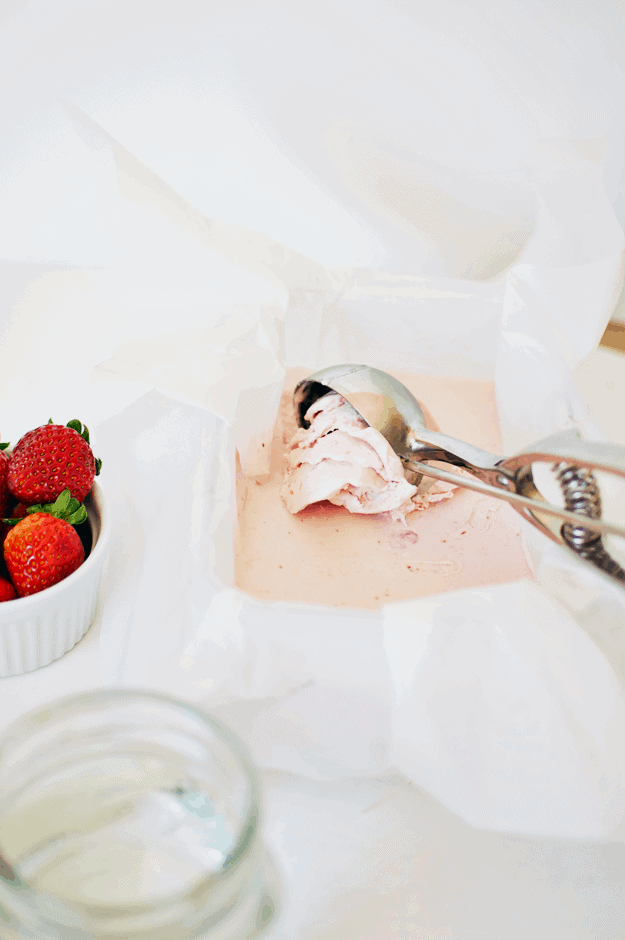 The Best No Churn Strawberry Ice Cream | no churn ice cream recipes, homemade ice cream recipes, how to make no churn ice cream, how to make homemade ice cream, homemade strawberry ice cream, strawberry ice cream recipes, easy ice cream recipes #strawberryicecream #nochurnicecream #homemadeicecream || The Butter Half via @thebutterhalf