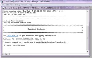 Analyzing a server 2008 R2 dwp crash dump file (3/4)