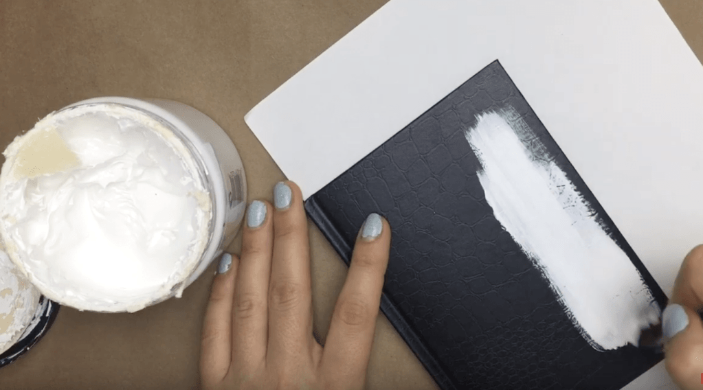 DIY note book cover painting upcycle gesso or primer