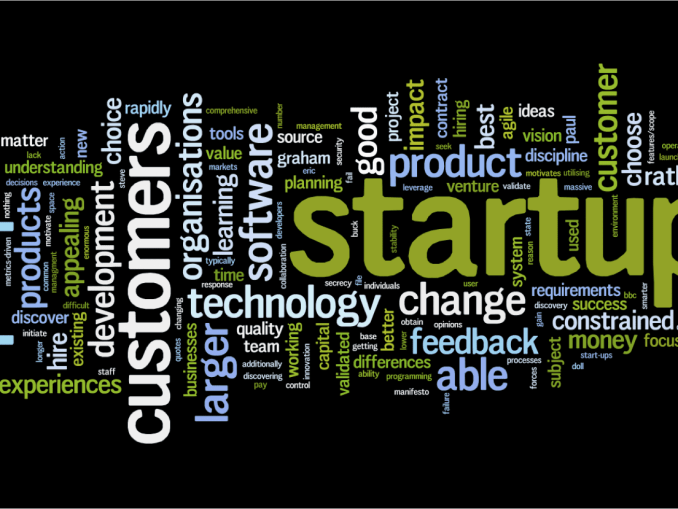 the image shows various factors related to startup. Business flourish startups