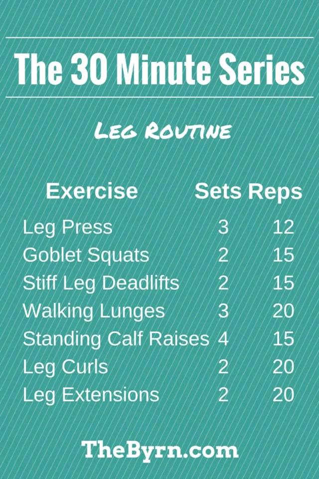 30 Minute Leg Routine