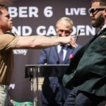 Tension and heated spirits at first face-to-face between Canelo and Plant