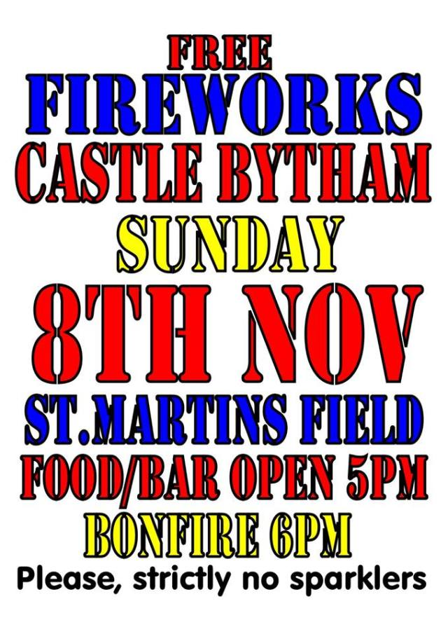 Castle Bytham Fireworks 2015