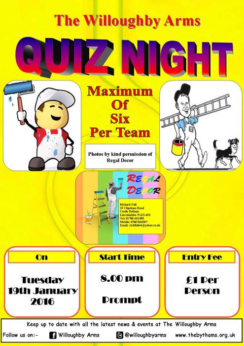Pub quiz poster (19-01-2016)