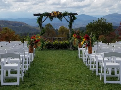 Ceremony site in Fall