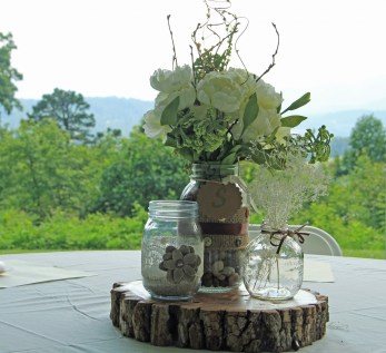 Beautifully handmade centerpieces