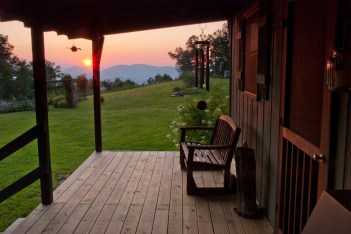 From the cabin porch