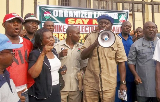 PIC. 4. NLC AND TUC PROTEST NEW ELECTRICITY TARIFF IN OWERRI (Copy)