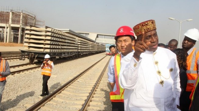 Image result for Lagos-Ibadan railway to be completed in December – Amaechi
