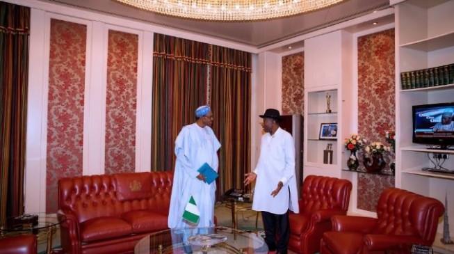 PHOTOS: Jonathan meets Buhari in Aso Rock
