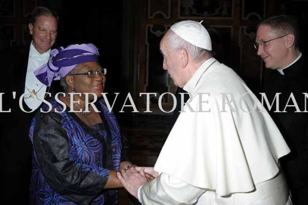 Pope and Okonjo-Iweala