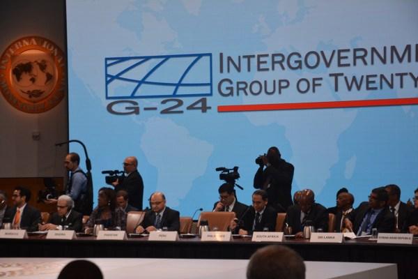 Adeosun at the G-24 meeting