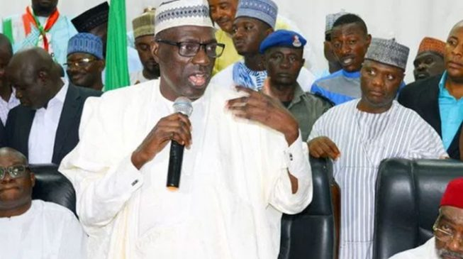 Image result for Ahmed Makarfi warns PDP against accepting all defectors