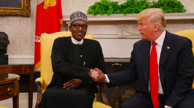 Image result for PHOTOS: Trump welcomes Buhari to White House