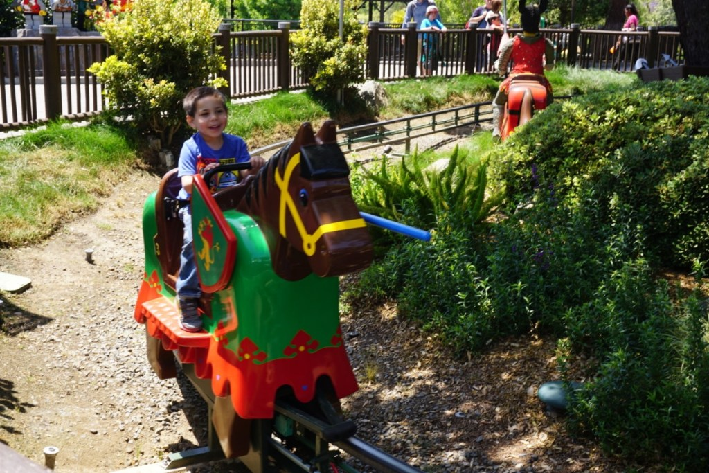 The Royal Joust in Castle Hill is one of his favorite rides.